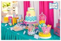 ~ Chevron Themed  - Baby Shower ~ / Chevron is everywhere nowadays! Adorable used as a baby shower theme.