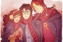 Potterhead / Harry Potter-Gennie Wesley  Ron Weasley-Hermione Granger  / by Leann Covington