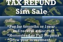 Virtual Land Tax Refund Sale Feb 1-March 31, 2013 / * 6 month Homestead - $180 USD which saves you $30 off the regular price of $210.