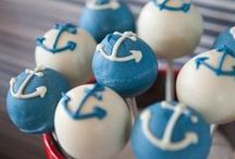 ~ Nautical Theme Baby Shower ~ / Planning a nautical theme baby shower? Here are great ideas for planning.