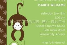 ~ Monkey Theme Baby Shower ~ / Ideas for planning a monkey theme baby shower / by All Diaper Cakes