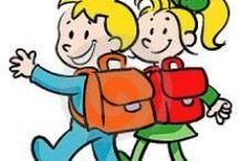 Weer naar school! / De zomervakantie zit er bijna op, school gaat weer beginnen! Op dit bord vindt u leuke en leerzame activiteiten die u samen met de kinderen kan doen ter voorbereiding op het nieuwe schooljaar.