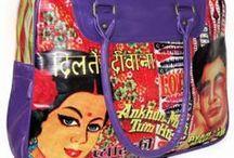 Sacs Indiens de créateurs / Notre sélection de sacs indiens super originaux et très colorés au style Bollywood en plastique recyclé confectionnés par 2 créatrices françaises installées en Inde