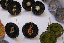 Earrings of Bottle Caps / Σκουλαρίκια από καπάκια μπουκαλιών