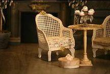 Montheron Dollshouse Miniature Chairs / dollhouse dollshouse furniture chairs