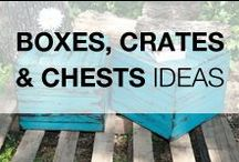 Pallet Boxes, Crates & Chests / Because we always need a box, a crate or a chest to store all our everyday things! Browse our huge selection of boxes, crates & chests made from recycled pallets such as toys boxes, wine boxes and a lot more! More inspiration here: http://www.1001pallets.com/diy-pallet-furniture/pallet-boxes-chests/