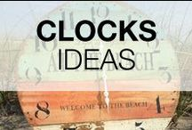 Pallet Clocks / Decorate your home with original clocks made out of repurposed pallets. Clocks are perfect to start your first pallet project :)