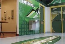 GameDay Vision Locker Room Graphics / Designed, printed, & installed Athletic Graphics to enhance locker rooms. Custom athletic wall murals & signage for lockers, walls, floors & doors.