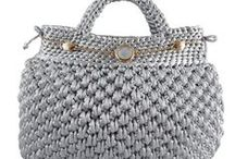 Knitted and crocheted bags