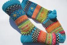 Socken - bunt und einzigartig / Bunte Socken mit Fair Isle Mustern für einmalig schöne Füße.