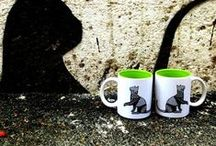 Mugs and Coasters / Beautiful, designer mug is just perfect for that hot cuppa coffee to start your day!! Hand drawn illustrations, vintage prints and many more designs are available on www.artbugs.in