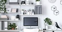 ORGANIZE   Home Office / a collection of pins to help inspire you to create the most organized and efficient office space for your business and lifestyle.