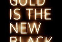 COLOR   black and gold inspiration / A collection of beautiful colors you will love, everything black and gold for your color inspiration.  BLACK and GOLD items from pictures to products to cool things for every day life.