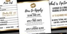 DESIGNS   LipSense / Collection of marketing items for LipSense distributor. LipSense Genesense business owner.