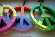 Peace Symbol & Theme Crafts & Artwork / Peace motif, quotes, symbol, sign handmades, artwork and designs.