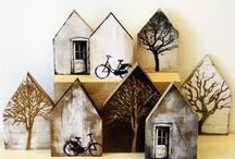 Creative Buildings Artwork & Handmades / Houses, Structures, Cities, Towns, Shelter, Villages, Barns, Shacks, Cabins...