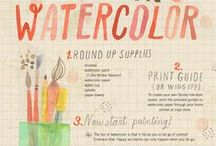 Watercolors! / All about watercolors and watercolor technique. It's worth saving whites for!!! Don't you think? :)