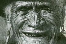 Maori art, objects and patterns.