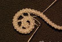 Irish crochet, needle lace / (koronka rumuńska, arabeska)