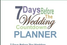 Last 7 Days Before Wedding Checklist / Things to do the last seven days before the wedding
