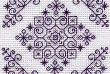 embroidery cross stitch + blackwork / haft krzyzykowy - techniki i wzory