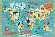 Around the world nursery. / Summer school weekly project