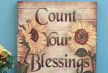 Count your blessings One-by-One, Look and see what God has done / by Tari
