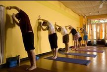 The Studio / Pictures of students practicing yoga at the studio