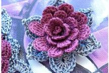 Πλεκτά λουλούδια - crochet flowers / Όμορφα Πλεκτά λουλούδια