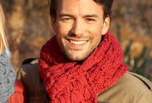 Για εκείνον - for him / Crochet - knit scarf for men