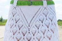 πλεκτές φούστες, φορέματα - skirts / Crochet skirts, dresses and trousers