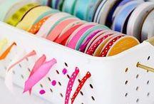 Craft Storage and Organization / We LOVE all these options for craft storage and organization.  www.annwilliams.com