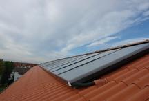 Thermische Solaranlagen / Verschiedene von uns gebaute Solaranlagen