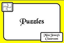 Theme: Puzzle / Theme Alert! Ideas for using in the classroom when the theme is about connecting or puzzles!