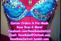Rave Bras {for sale} / All of these awesome items are available www.facebook.com/RaveBabeDetroit  & www.etsy.com/shop/RaveBabeDetroit - Email for questions or custom orders at RaveBabe@outlook.com #EDM / by Rave Babe Detroit