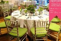 Desayuno en Verde con texturas blancas.