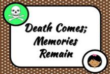 Death Comes; Memories Remain / When we die we leave behind different memories including photographs and here is a collection of those memories. .