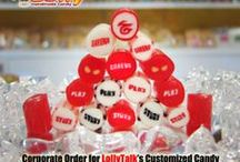 Handcrafted Customized Candy / These are a series of customized candy for various corporate events, weddings and birthdays celebration. Upon request, LollyTalk able to customize these lolly just for you!