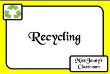 Recycling / Ideas about recycling, reduce, reuse for the classroom and at home as well.
