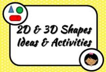 Math: Shapes / Working with 2D and 3D shapes is always fun and hands-on...but I want some new ideas that will teach the concept better. Here's what I might try...