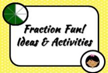 Math: Fractions / We use fractions all the time without noticing. I actually love fractions but find that the word sends chills to my students! How can I warm them towards fractions?