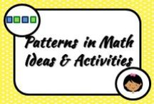 Math: Patterns / We see patterns everyday in life and it is a fun way to get students using manipulatives in the classroom. So...what can I do that will make it so interesting they won't stop talking about it?