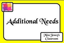 Additional Needs / Assisting students in your class with additional needs due to a disability or learning disorder can be tricky with time constraints. Here are some ready to use activities and ideas to speed up your planning and to best help your students.
