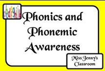 Literacy: Phonics & Phonemic Awareness / At university when I studied to be a teacher the lecturer could not explain the difference between phonics and phonemic awareness! Here are some activities I've dug up around the place!