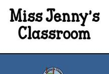 Miss Jenny's Classroom / A place to find all the goodies I have created with examples of the finished products! Plus some of the examples of assignments that my students have done to inspire you!