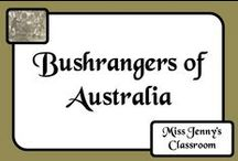 Bushrangers / A board about bushrangers - the Australian equivalent of an outlaw in the US and a highwayman in the UK