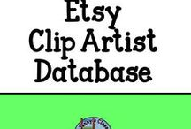 Etsy Clip Art Sellers / No product pins. A board directory of clipart sellers on Etsy who offer commercial use clipart (unlimited and limited - always read the terms and conditions).