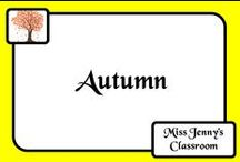 Theme: Autumn / Ideas to do in the classroom during autumn / fall.