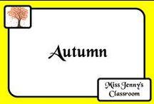 Theme: Autumn / Ideas to do in the classroom during autumn / fall.