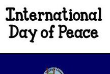 Event: Day of Peace / Ideas and activities to use in the classroom about peace - particularly for International Day of Peace.
